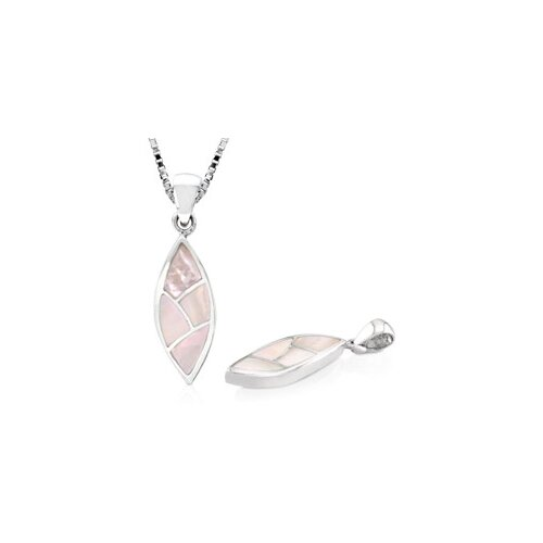 Oravo White Mother of Pearl Pendant in Sterling Silver