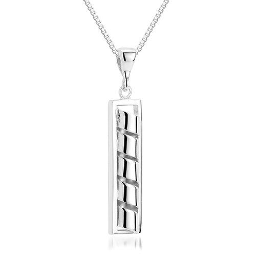 Oravo Unique Design Pendant Necklace in Sterling Silver