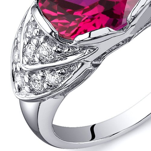 Oravo Classy Brilliance 3.50 Carats Cocktail Ring in Sterling Silver