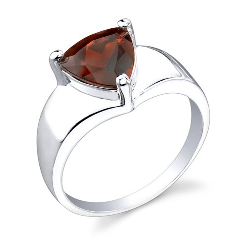 2.25 carats Trillion Cut Garnet Ring in Sterling Silver