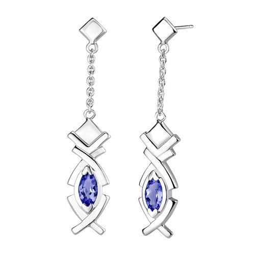 Oravo Marquise Shape Sapphire Pendant Earrings Set in Sterling Silver