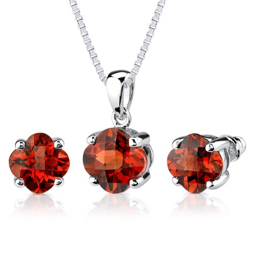 Classic Majesty 10.25 Carats Checkerboard Lily Cut Padparadscha Sapphire Pendant Earring Set in ...