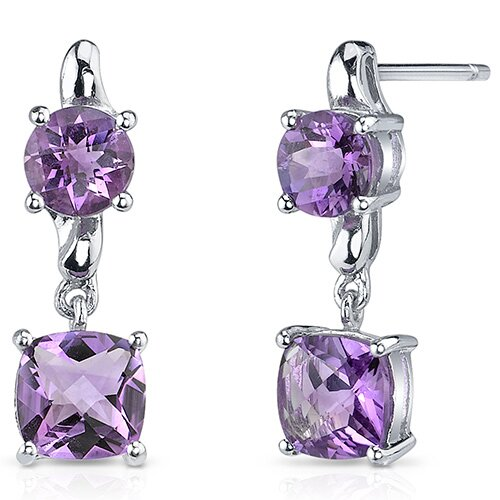 Oravo Cushion Cut Gemstone Earrings