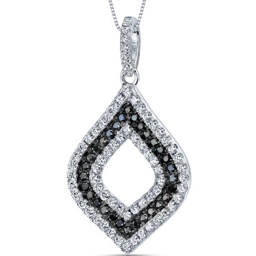 Black and White Cubic Zirconia Classic Opulence Pendant