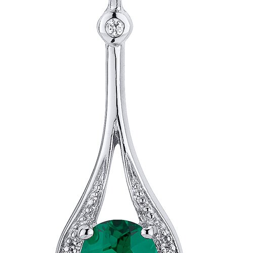 Oravo Glamorous 3.50 Carats Oval Cut Emerald Dangle Earrings