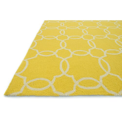 Ventura Yellow Ivory Geometric Indoor Outdoor Area Rug