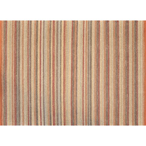 Loloi Rugs Green Valley Terracotta Striped Rug