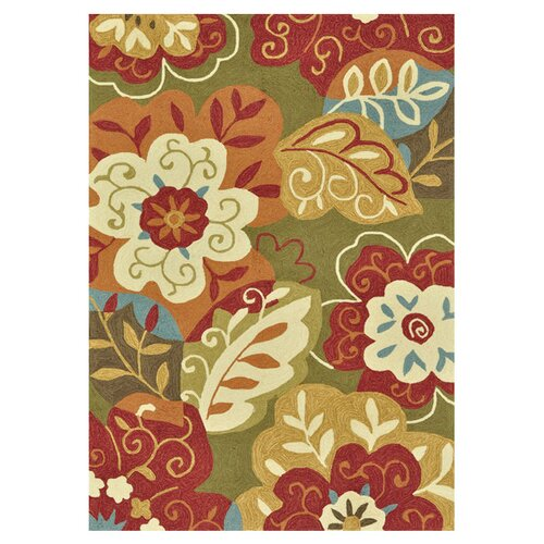 Loloi Rugs Francesca Green/Red Floral Area Rug