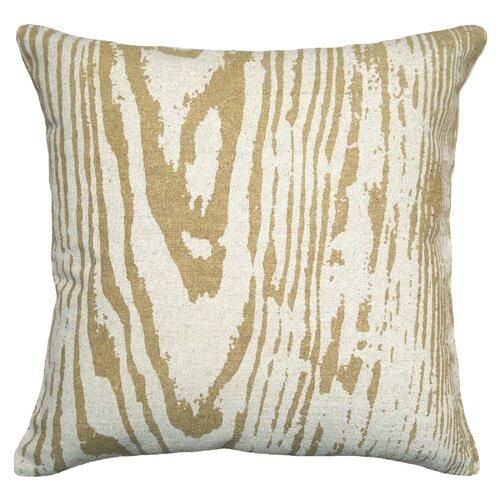 Graphic Faux Bois 100% Linen Pillow