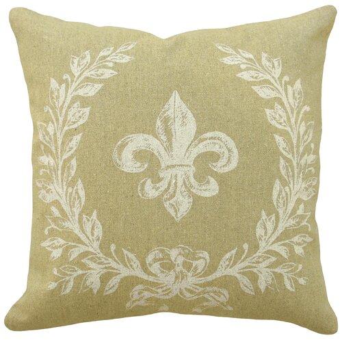 French Fleur de Lis 100% Linen Pillow