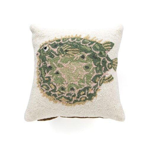 Puffer Fish 100% Wool Hook Pillow