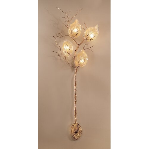 Classic Lighting Autumn Leaves 4 Light Wall Sconce