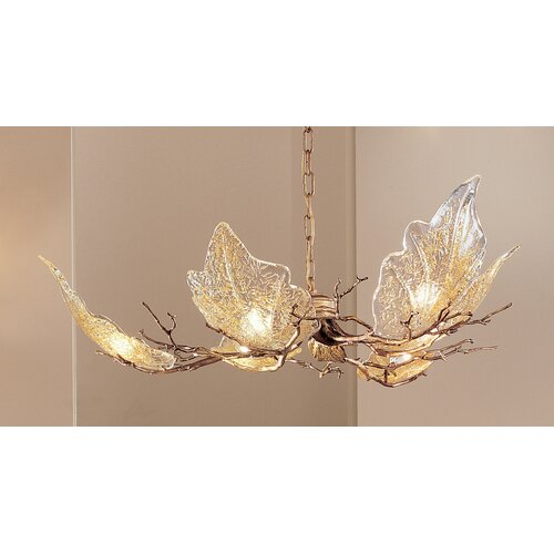 Classic Lighting Autumn Leaves 6 Light Chandelier