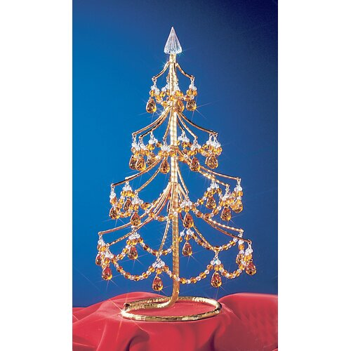 "Classic Lighting Cheryls 1' 4"" Grapes Amber Artificial Christmas Tree"