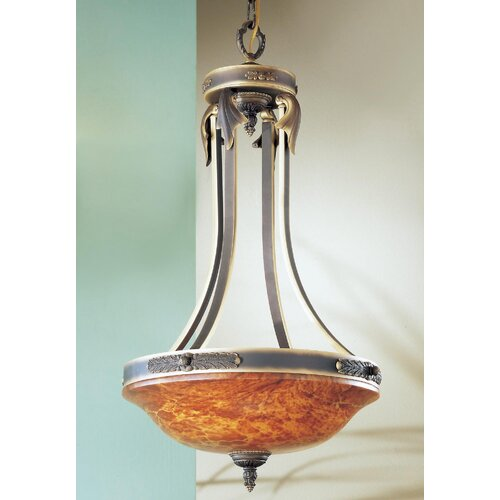 Classic Lighting Venetian 3 Light Inverted Pendant