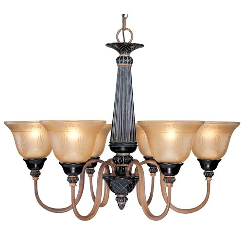 Classic Lighting Vintage 6 Light Chandelier