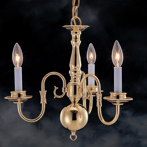 Classic Willaimsburgs 3 Light Mini-Chandelier