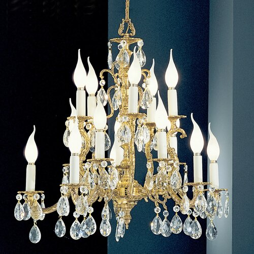 Classic Lighting Barcelona 15 Light Chandelier