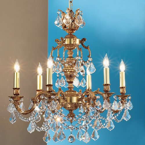 Classic Lighting Chateau Imperial 6 Light Chandelier