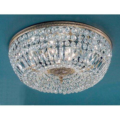 Classic Lighting Crystal Baskets Light Semi-Flush Mount