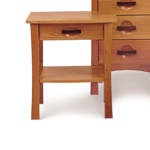Copeland Furniture Berkeley 1 Drawer Nightstand with Shelf