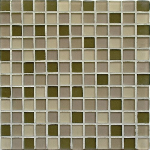 Casa Italia Crystal-A Glass Mosaic in Forest Mix Frosted
