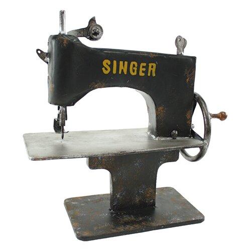 Singer Metal Sewing Machine Decor