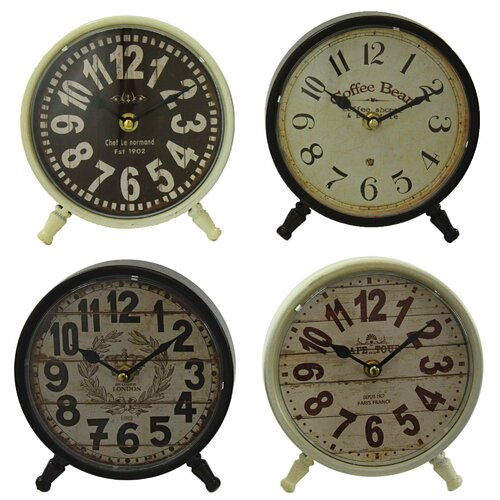Morgan 4 Piece Table Clock Set