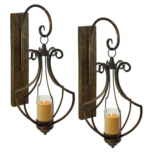 Aspire Ribley Metal and Glass Sconce