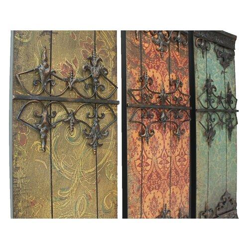aspire 3 piece nadia metal plaque wall decor set reviews. Black Bedroom Furniture Sets. Home Design Ideas