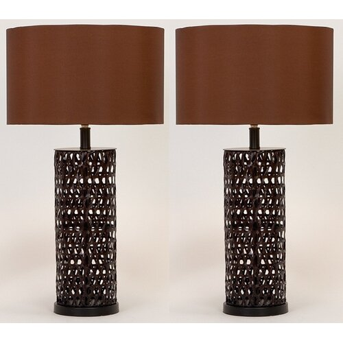 "Aspire Devon 27"" H Table Lamp with Drum Shade"