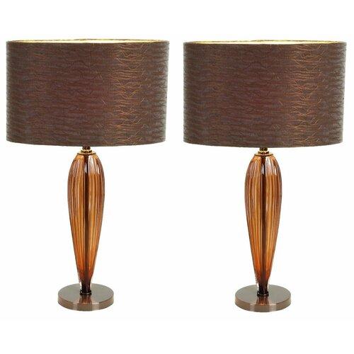 "Aspire Kiara Modern 25"" H Table Lamp with Drum Shade"