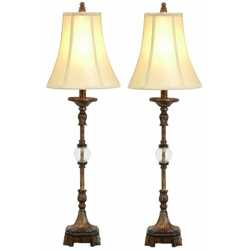 "Aspire Pax Buffet 34"" H Table Lamp with Bell Shade"