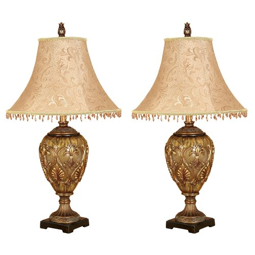 """Aspire Dessa 31"""" H Table Lamp with Bell Shade"""