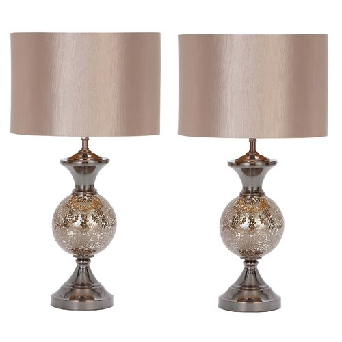 """Aspire Hettie 25"""" H Table Lamp with Drum Shade"""