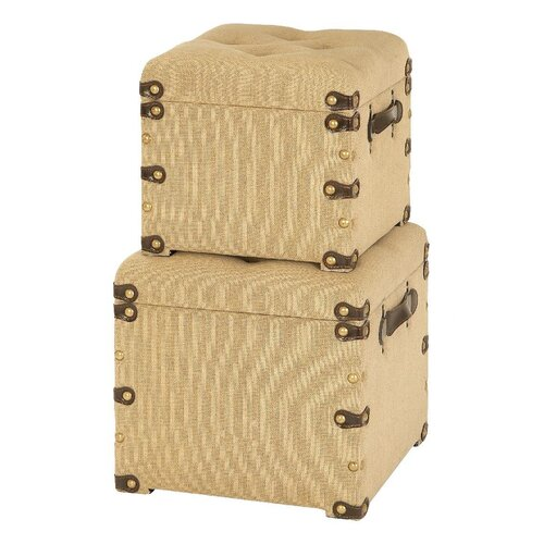 Aspire Ottoman Storage Trunks (2 Piece Set)