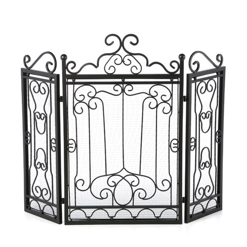 Aspire 3 Panel Wrought Iron Fire Place Screen