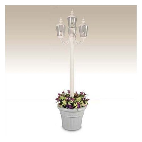 "Patio Living Concepts Cambridge 4 Light 85"" Outdoor Aluminum Post Lantern Set"