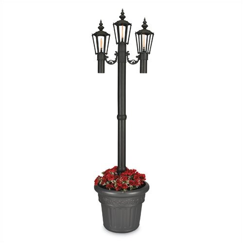 """Patio Living Concepts Newport 84"""" Outdoor Post Lantern Set with Planter"""
