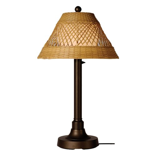 "Patio Living Concepts Java Table Lamp with Shade and 2"" Column"