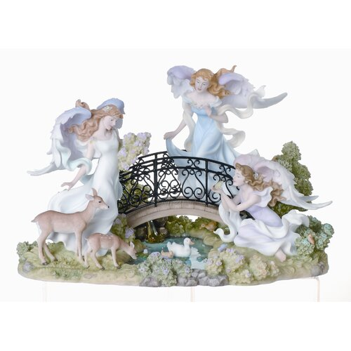 Roman, Inc. Angels on Bridge Heavenly Promenade Figurine