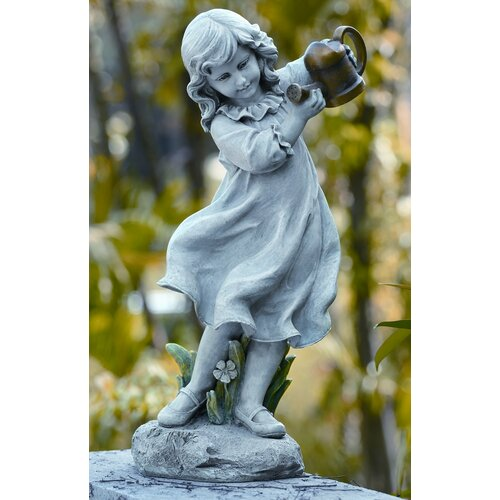 Roman, Inc. Girl with Watering Can Statue