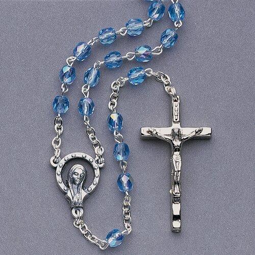Crystal Rosary Unit Birthstone Pendant