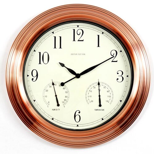 "Ashton Sutton Indoor/Outdoor 18"" Wall Clock"