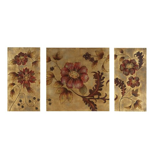 Golden Vine 3 Piece Original Painting on Canvas Set