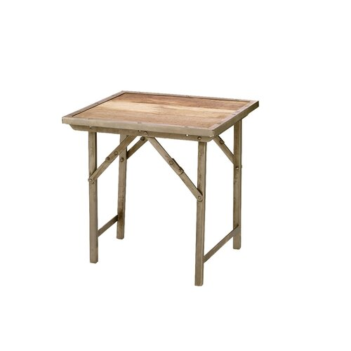 Campaign Folding End Table