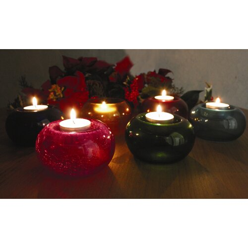 Amber Home Products Glass T-Lite Votive (Set of 6)