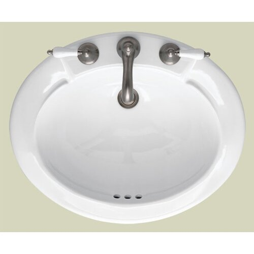 St Thomas Creations Jasmine Countertop Center Bathroom Sink