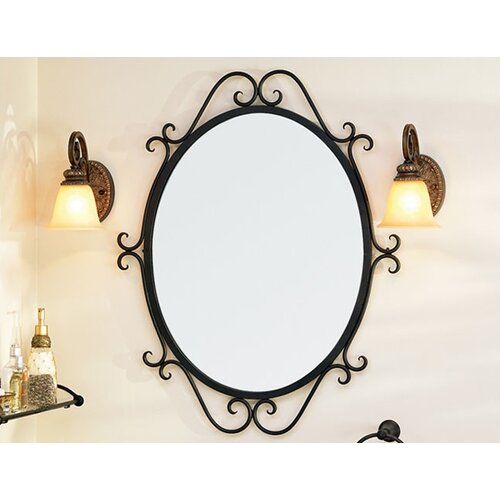 St Thomas Creations Granada  Oval Scroll Mirror