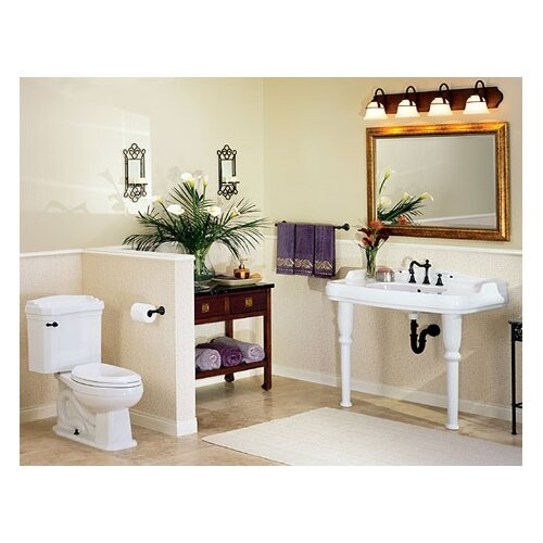 St Thomas Creations Old Antea Grande Console Bathroom Sink with China Straight Legs